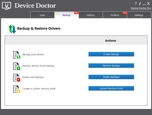 Backing up and restoring drivers