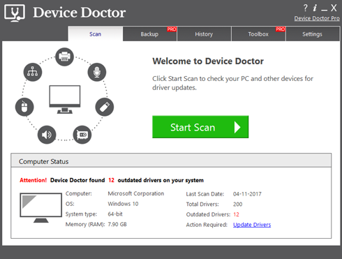 Device Doctor Ready to Scan